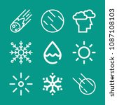 weather related set of 9 icons... | Shutterstock .eps vector #1087108103