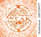 weak abstract orange mosaic... | Shutterstock .eps vector #1087109477