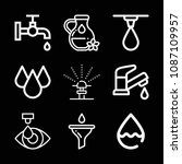 drop related set of 9 icons... | Shutterstock .eps vector #1087109957