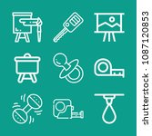 tools related set of 9 icons... | Shutterstock .eps vector #1087120853