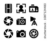 filled photography icon set... | Shutterstock .eps vector #1087124483