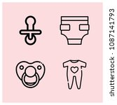 outline baby icon set such as... | Shutterstock .eps vector #1087141793