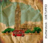 vector illustration of big ben. ... | Shutterstock .eps vector #108714953