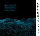 wireframe landscape wire.... | Shutterstock .eps vector #1087152953