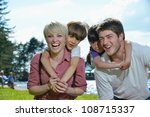 happy young family with their... | Shutterstock . vector #108715337