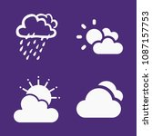 set of 4 cloudy filled icons... | Shutterstock .eps vector #1087157753