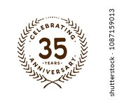 35 years design template. 35th... | Shutterstock .eps vector #1087159013