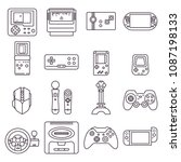 collection of video game home...   Shutterstock .eps vector #1087198133
