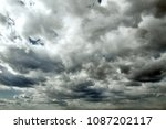beautiful storm sky with clouds ... | Shutterstock . vector #1087202117
