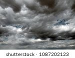 beautiful storm sky with clouds ... | Shutterstock . vector #1087202123