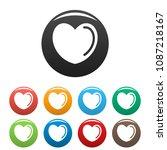 poisoned heart icon. simple... | Shutterstock .eps vector #1087218167