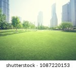 park in lujiazui financial... | Shutterstock . vector #1087220153