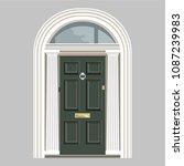 art deco style london doorway   Shutterstock .eps vector #1087239983