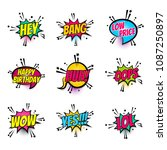 lettering hey  bang  price ... | Shutterstock . vector #1087250897