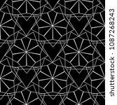 abstract vector geometric... | Shutterstock .eps vector #1087268243