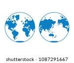 world map  globe hemisphere...   Shutterstock .eps vector #1087291667