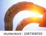 industrial pipeline equipment... | Shutterstock . vector #1087308533