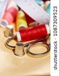diy concept. sewing supplies ... | Shutterstock . vector #1087309523
