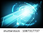 vector technology communication ... | Shutterstock .eps vector #1087317737