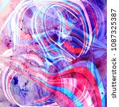 abstract watercolor bright... | Shutterstock . vector #1087325387