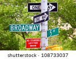 broadway and 5th avenue street... | Shutterstock . vector #108733037