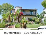 beautiful two story mansion... | Shutterstock . vector #1087351607