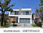 luxury house in high tech... | Shutterstock . vector #1087351613