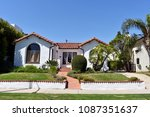 beautiful homes and estates... | Shutterstock . vector #1087351637