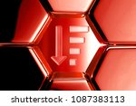red glossy sorting by quantity...   Shutterstock . vector #1087383113