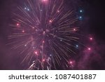 purple sparks and fireworks | Shutterstock . vector #1087401887