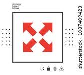 extend  resize icon. cross...   Shutterstock .eps vector #1087409423