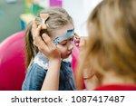 cute little four years girl   ... | Shutterstock . vector #1087417487