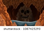 scary rocky cave in the dark... | Shutterstock .eps vector #1087425293