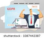 gdpr date. general data...   Shutterstock .eps vector #1087442387