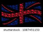 waving uk flag collage created...   Shutterstock .eps vector #1087451153