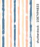 trendy watercolor brush stripes ... | Shutterstock .eps vector #1087494833