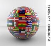 flag globe glossy new version | Shutterstock . vector #108750653