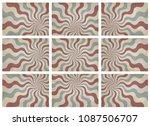 set of retro pattern a vintage...   Shutterstock .eps vector #1087506707