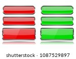 red and green glass buttons... | Shutterstock .eps vector #1087529897