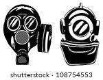 Gas Mask And Deep Diver's...