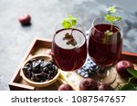 kokum sharbat  juice or sherbet ... | Shutterstock . vector #1087547657