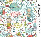 funny color seamless pattern... | Shutterstock .eps vector #108756653