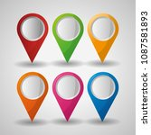 gps navigation application | Shutterstock .eps vector #1087581893