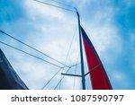 Small photo of The red sail. Yachts sail