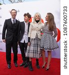 Small photo of LOS ANGELES, May 6th, 2018: Actress Diane Keaton with her family, son Duke (2nd from left), and daughter Dexter (right) at the premiere of the movie Book Club, held at the Westwood Village Theatre.