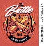 hip hop battle poster template. ... | Shutterstock .eps vector #1087601117