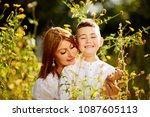 family happy outdoors. | Shutterstock . vector #1087605113