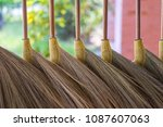 thailand handmade straw grass...   Shutterstock . vector #1087607063