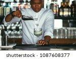mixed race male expert... | Shutterstock . vector #1087608377
