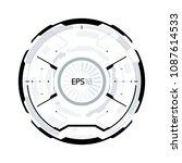 futuristic vr hud circle...